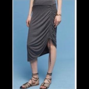 Anthropologie Gray Rylee Skirt  9-H15 STCL - Large